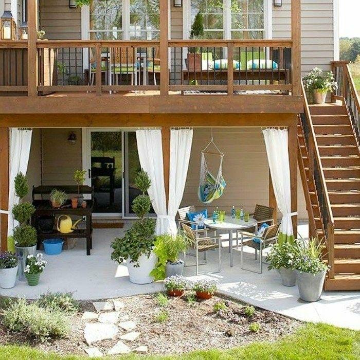 sch ner garten und toller balkon gestalten ideen und tipps holzhaus garten sitzgruppe und. Black Bedroom Furniture Sets. Home Design Ideas