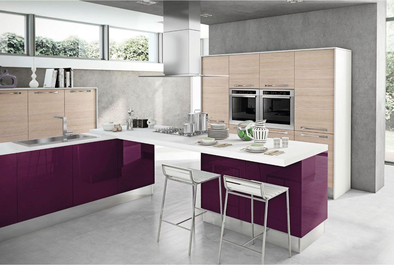 MARTINA Cucina Lube Moderna Cucina colorata, Cucine