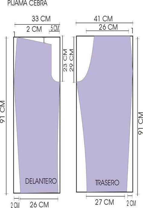 Resultado de imagen para patrones de pijamas de damas | patrones ...