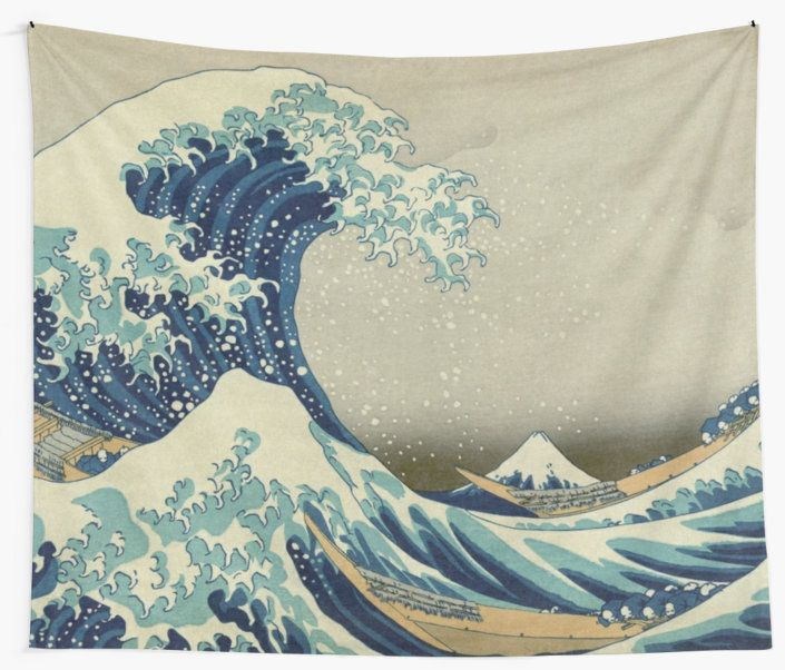 3eda0c0ccfe8b The Classic #Japanese Great #Wave off Kanagawa by Hokusai – The Great Wave  off Kanagawa also known as The Great Wave or simply The Wave, is a  woodblock ...