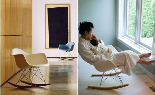 White Eames RAR Rocking Lounge Retro Rocker Chair: Amazon.co.uk: Kitchen