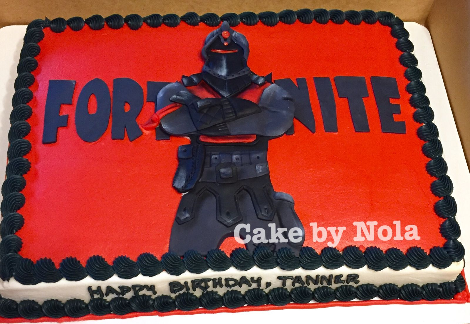 Fortnite Cake Featuring The Black Knight Cakedecorating