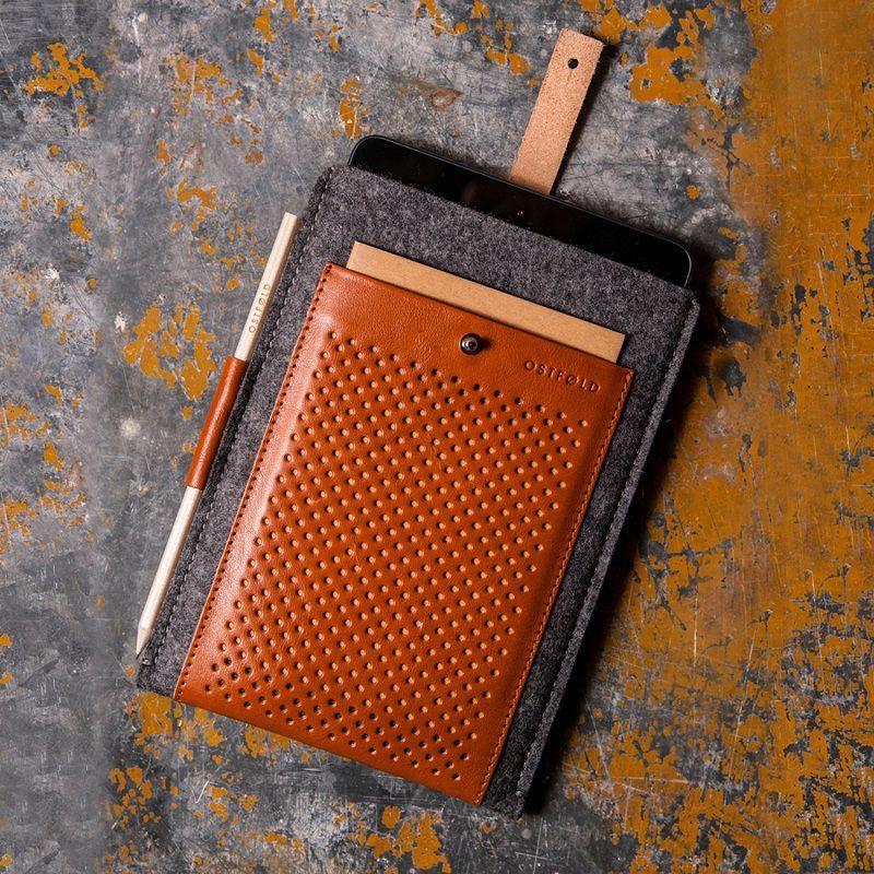 Ostfold Wool & Leather Case for iPad mini