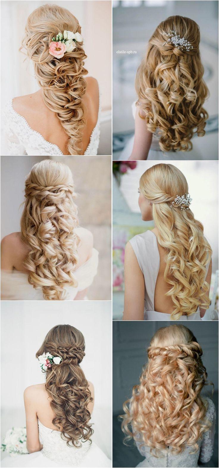bridal hairstyles : 40 stunning half up half down wedding