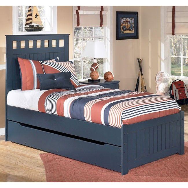Leo Panel Bed W Trundle Set Kamar Tidur Tempat Tidur Anak