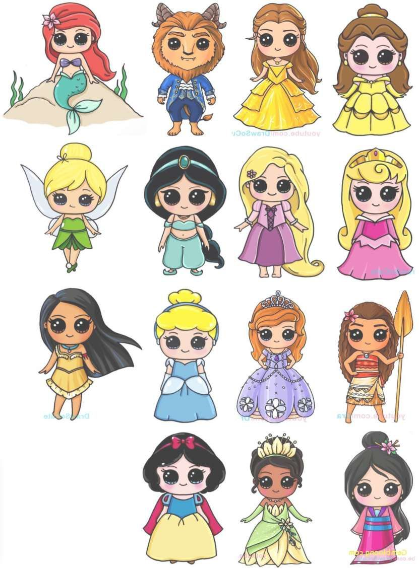 22+ Cute Disney Drawing  Disney kawaii, Dessins disney mignons