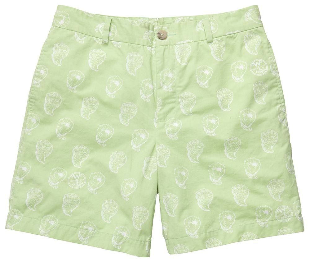 The Shucker Short in Lime Green by Southern Proper