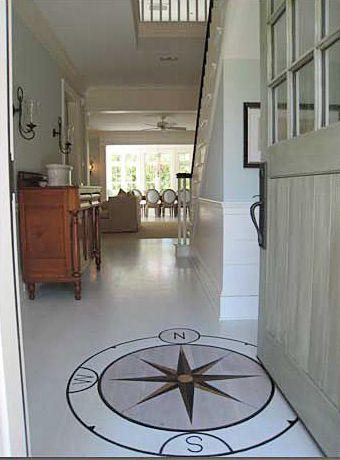 Georgiana Design Entry Foyer Compass Tile Wood