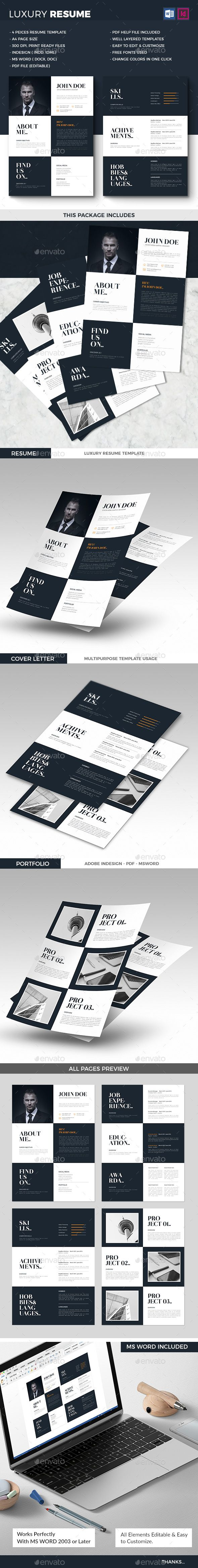Luxury Resume Create your Resume easily with this professional ...