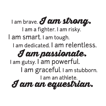 I am an Equestrian Wall Quotes™ Decal | WallQuotes.com ...
