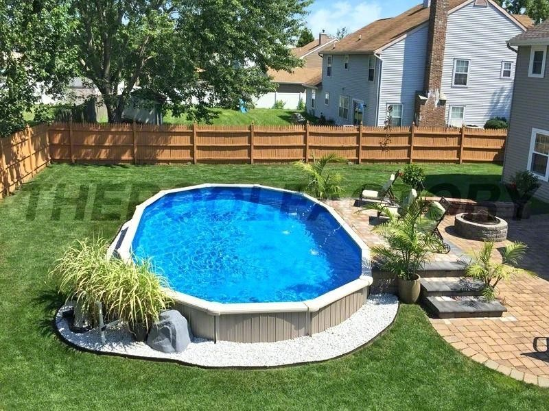Above Ground Pool Backyard Pool Above Ground Pool Landscaping Pool Landscaping