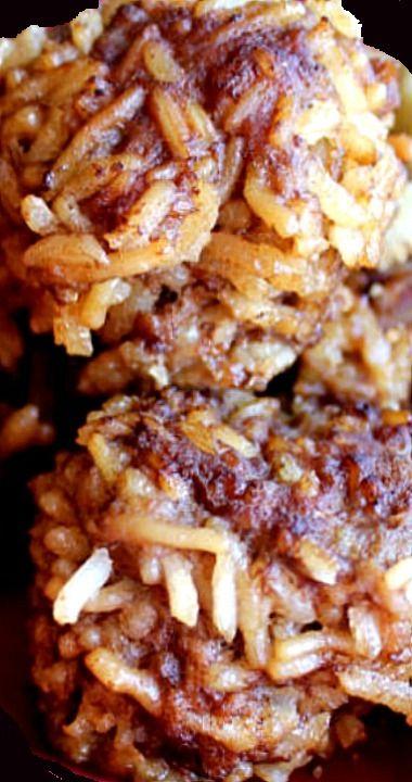 Four Ingredient Porcupine Meatballs #beefdishes