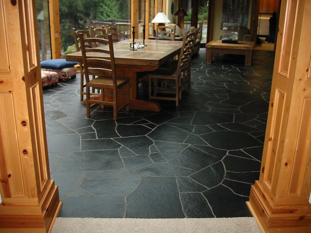 Slate Flooring Kitchen Slate Floor Home Improvement Pinterest Home We And Home Depot