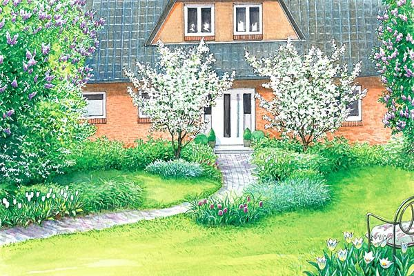 ideen f r einen gro en vorgarten garden plan aia planeerimine pinterest garten garten. Black Bedroom Furniture Sets. Home Design Ideas