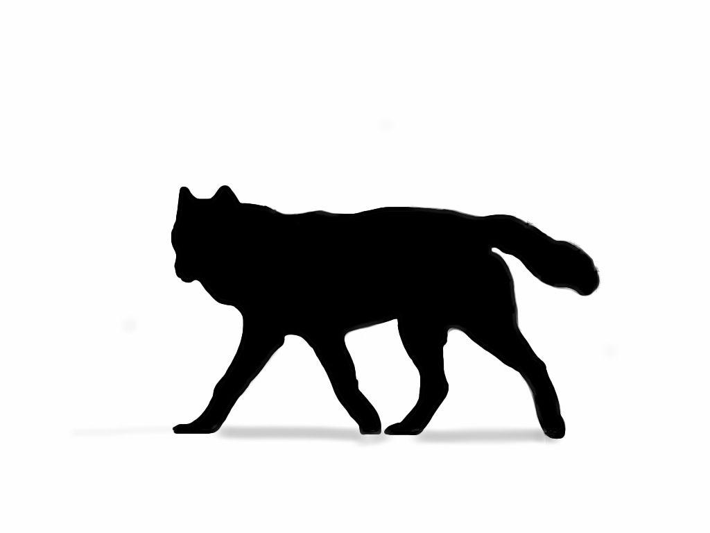 silhouette tattoo wolf - Google Search   cool skin art ...