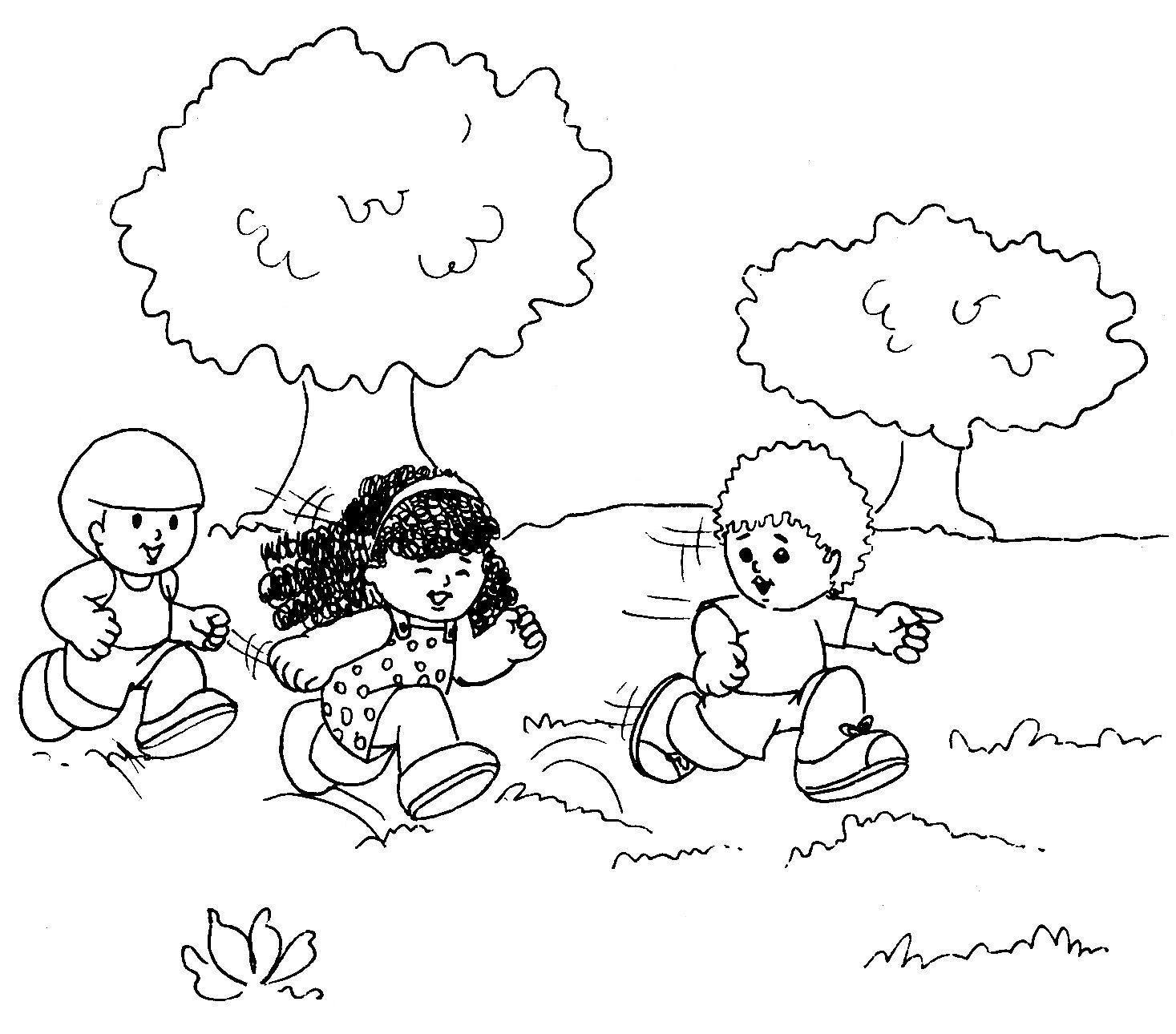 Resultado De Imagem Para Criancas Brincando No Parque Para Colorir