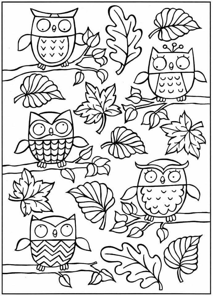 Coloring For Adults Kleuren Voor Volwassenen Herfst En Heksen