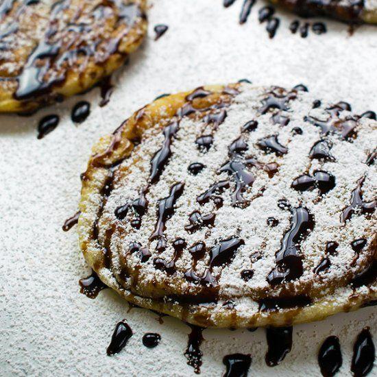 Hoddeok, Sweet Korean Pancakes with brown sugar, mixed ... Hoddeok Korean Sugar Pancakes