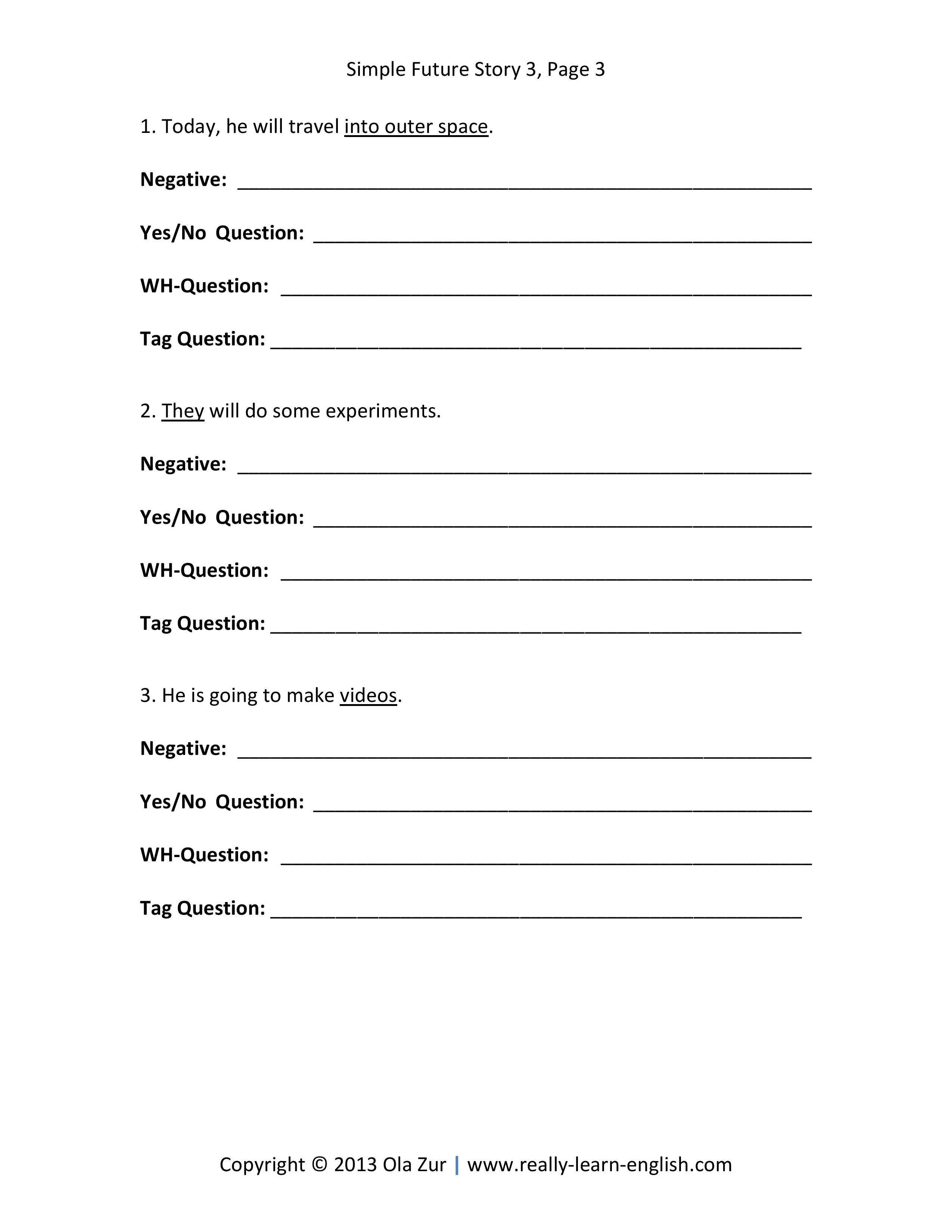 English Grammar Tenses Stories Exercises And Answers
