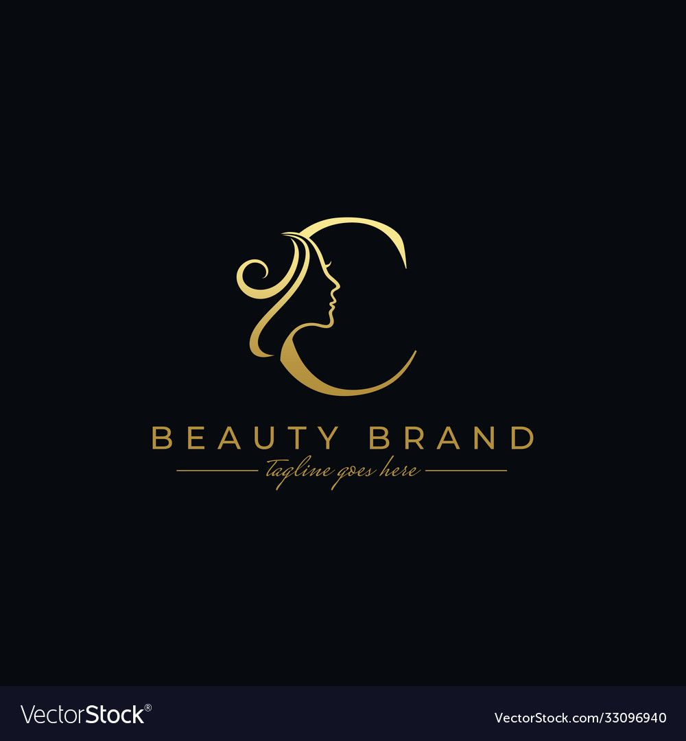Letter C Beauty Face Hair Salon Logo Design Download A Free Preview Or High Quality Adobe Illustrato Salon Logo Design Hair Salon Logo Design Hair Salon Logo