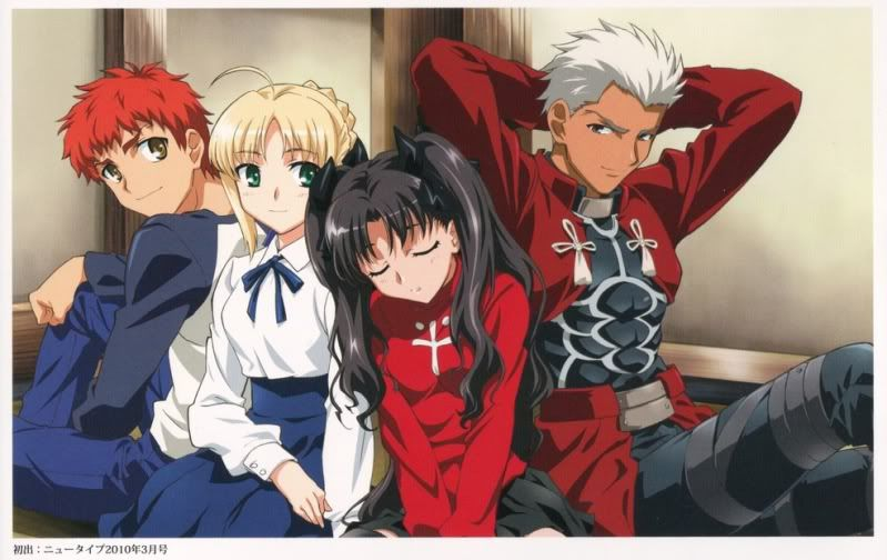 Fate Stay Night Shirou Saber Rin And Archer Fate Stay