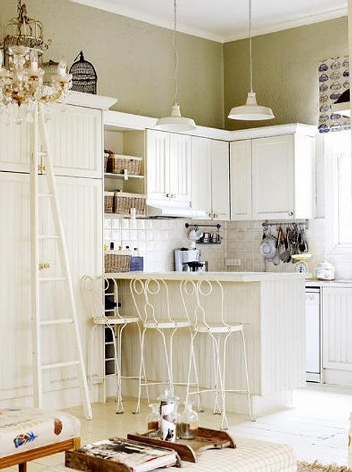 muebles-blancos-decoracion-cocinas-1 | Diseño | Pinterest | Muebles ...