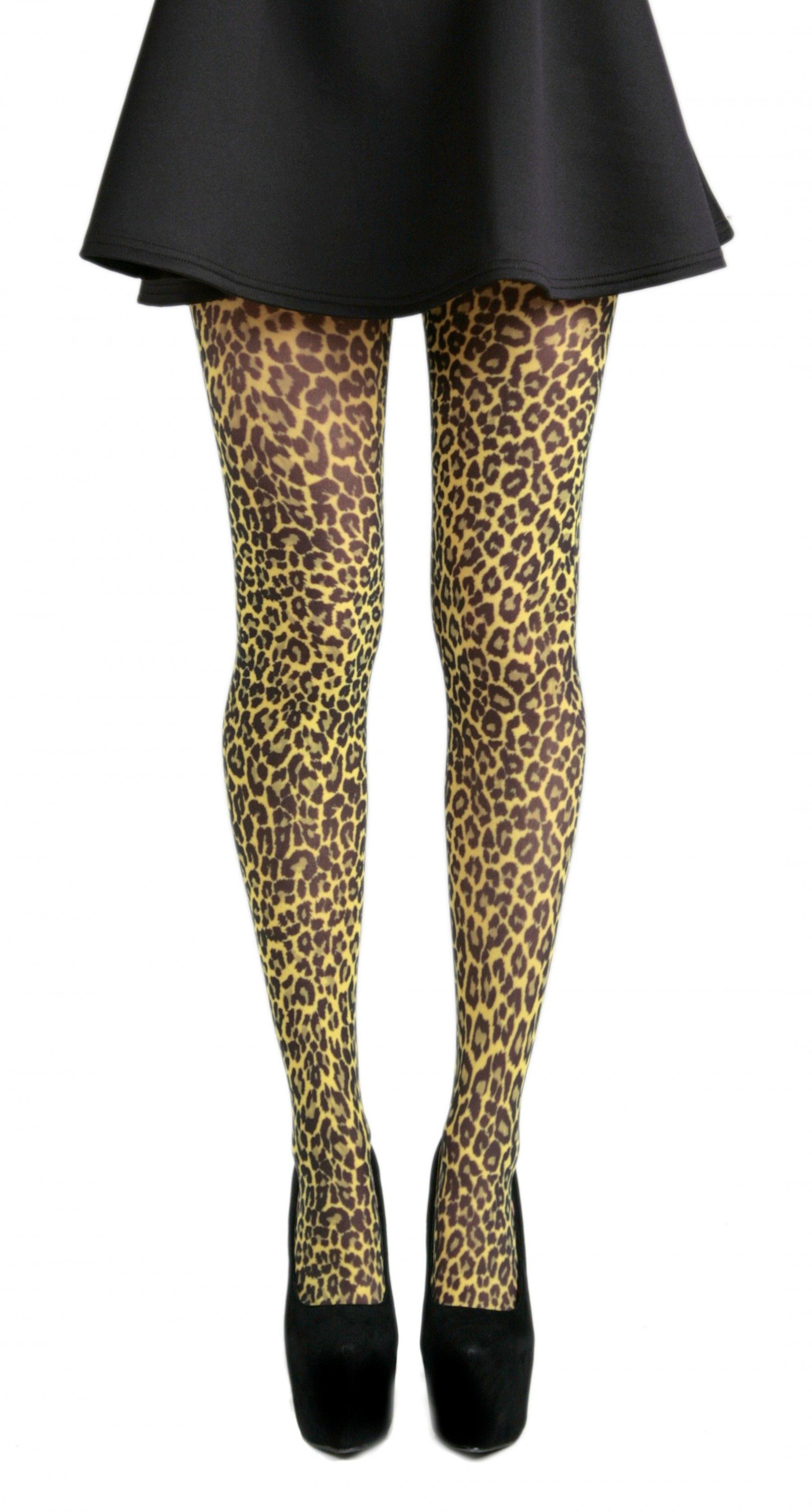356ec04e2c079 Small Leopard Printed Tights (Flo Yellow)   Tights   Tights, Fashion ...