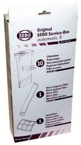 SEBO 5828ER Service Box with Sealing Strip for X Series Vacuum with 10 Filter...