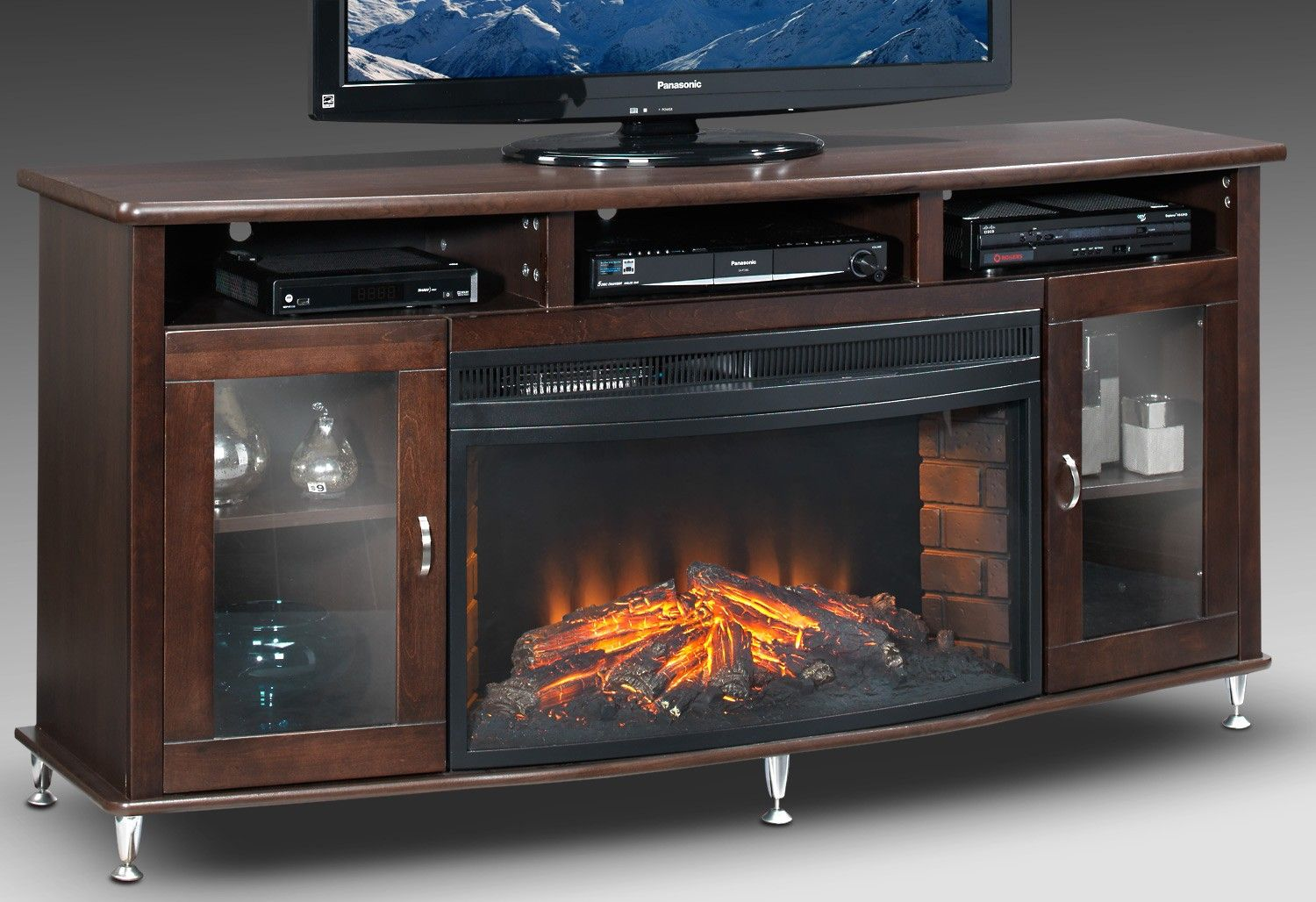 Kitchener Entertainment Wall Units Fireplace Credenza