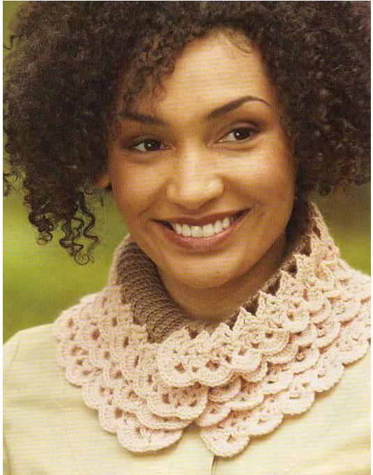 Patrones Crochet: Patron Crochet Cuello de Ondas | Collars ...