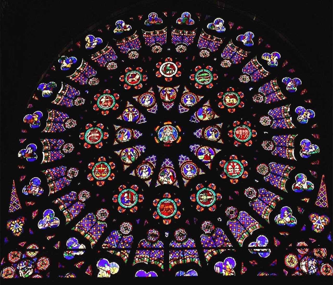 Coloring Page Rose Window At Saint Denis North Basilica Of St