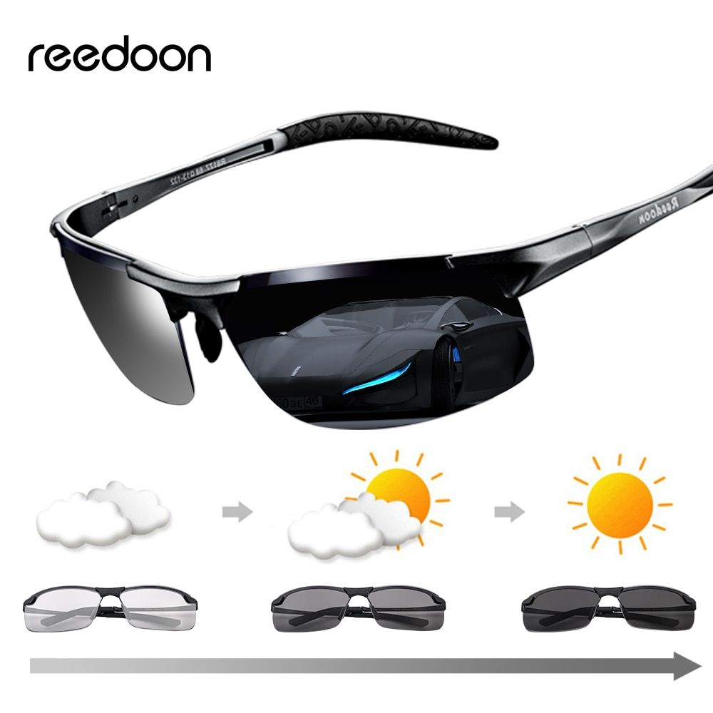 Fishing Sport Driving Sunglasses Goggles Photochromic UV400 HD Glasses