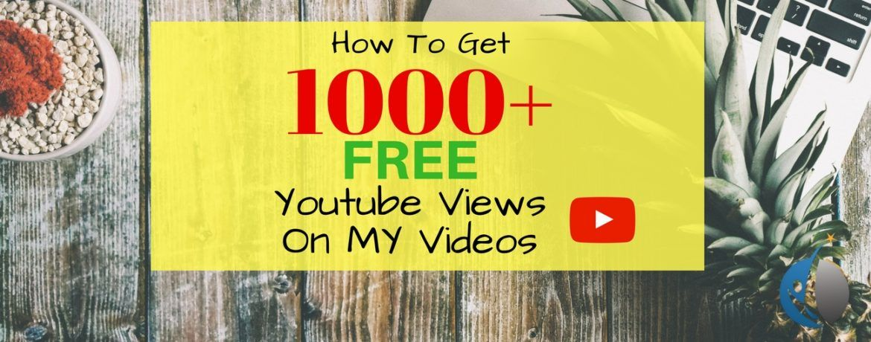 1000 free youtube views earn money online fast free