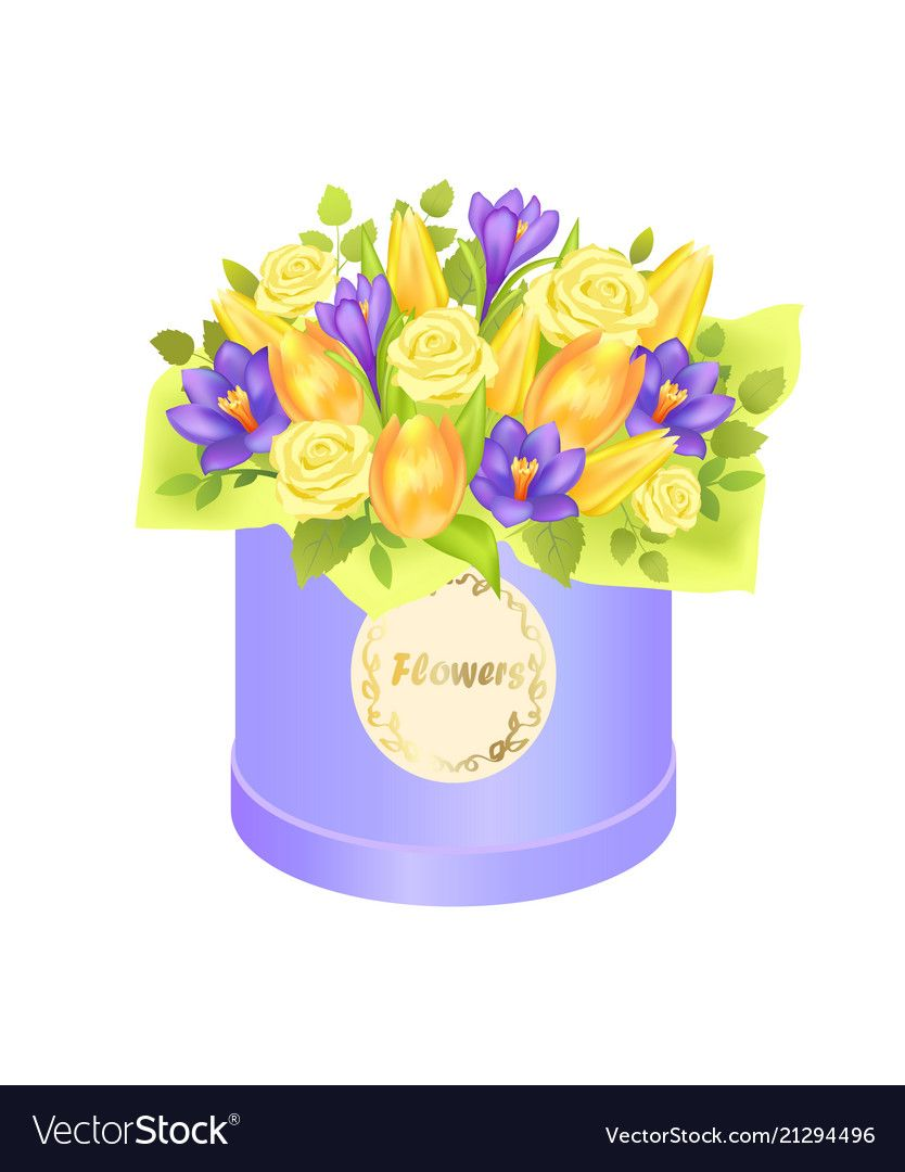 Flower bouquet composed by gentle spring flowers vector