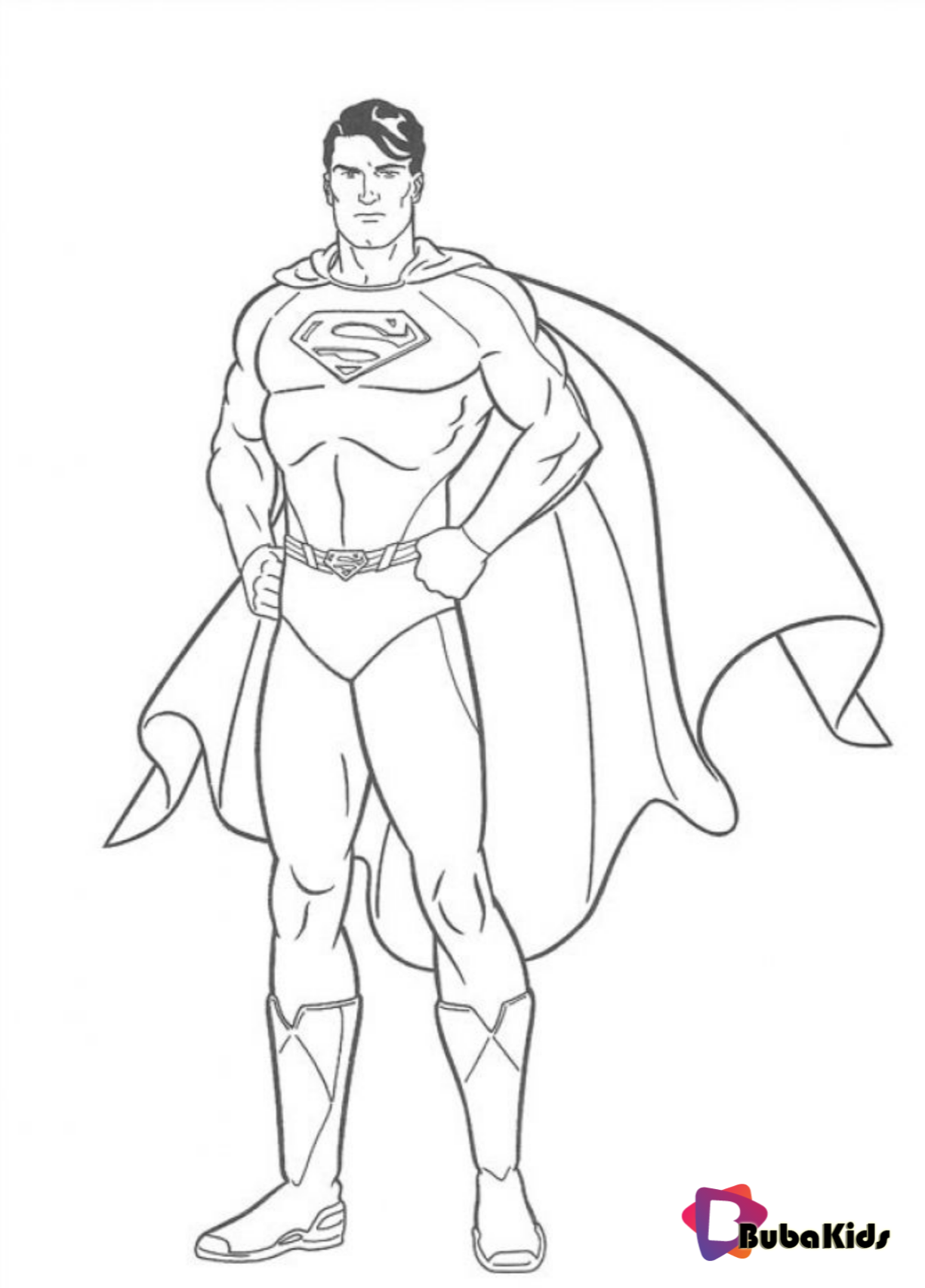 Printable Superman Coloring Pages On Bubakids Com Superhero Superman Superhero Superman Avengers Coloring Pages Avengers Coloring Superman Coloring Pages