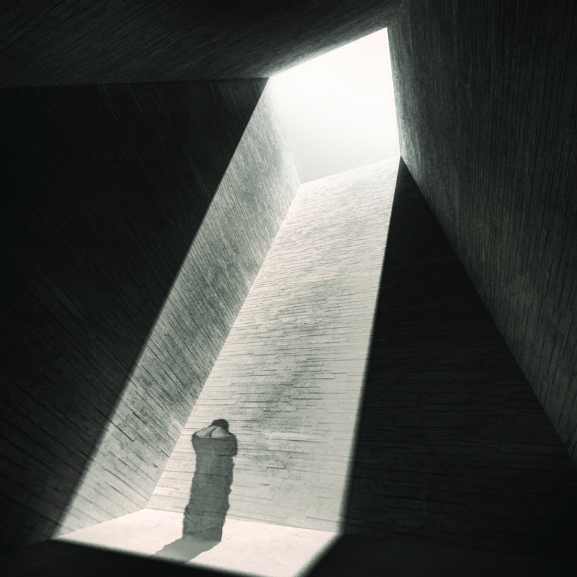 MZ architects contemplative meditation house + prayer chamber in jbâa, lebanon
