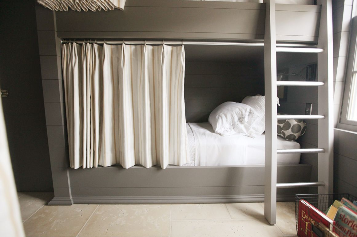 I Love These Custom Bunk Beds. The Rod And Drape Are A Clean, Stylish, Great Way To Hide An