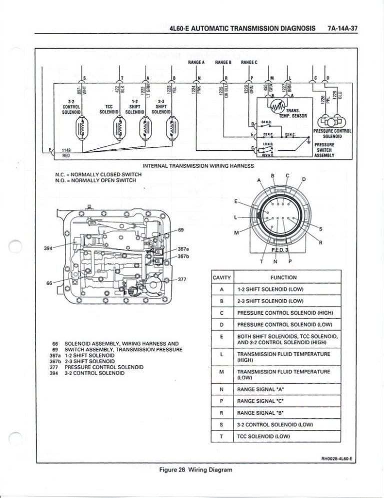 4l60e Solenoid Wiring Diagram And 4l60e Transmission Transmission Chevy Transmission Diagram