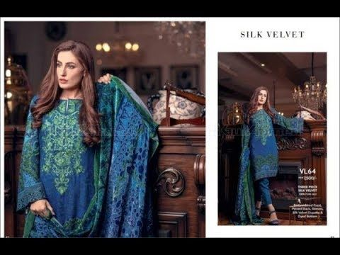 05b8ae71b2 Gul Ahmed Winter Linen 2018 Collection With Price | Fashion Trends ...
