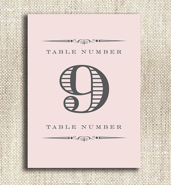 Printable Table Number - Top 10 Custom Wedding Printables (by City Bee Design via EmmalineBride.com) #handmade #wedding #printables