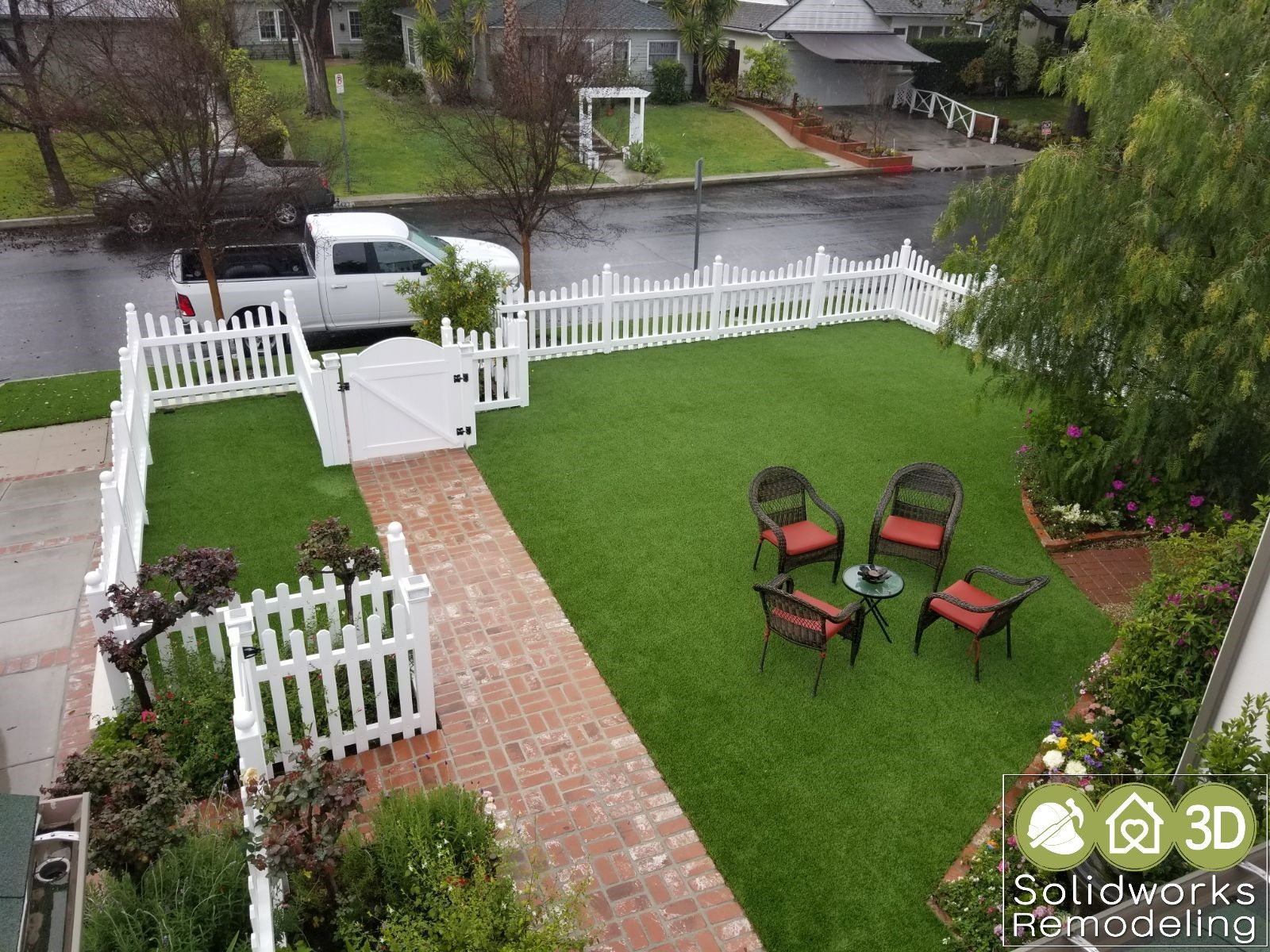 how to install artificial grass on tiles