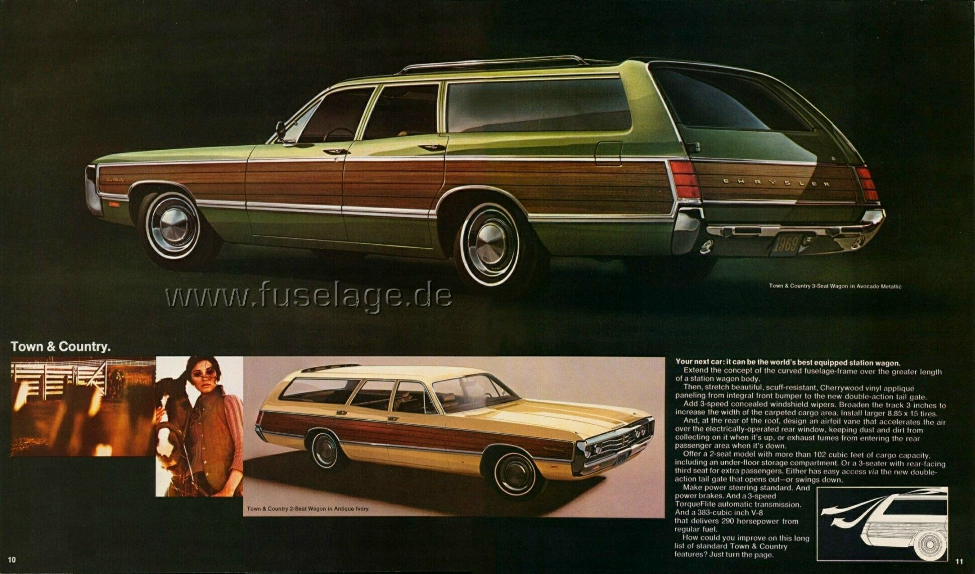 From Brochure For 1969 Chrysler Town Country Station Wagon
