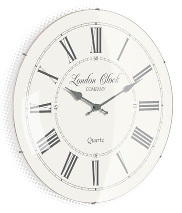 Cream Gl Domed Wall Clock Clocks And Ornaments Pinterest Domes