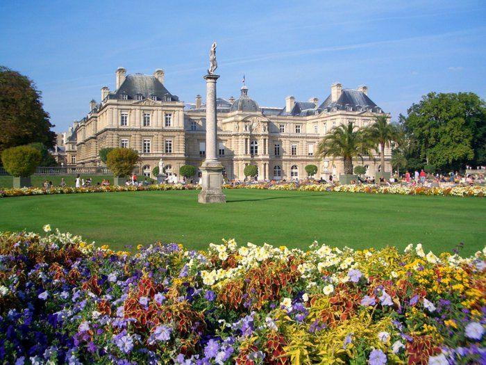 paris urlaub tipps Der Jardin du Luxembourg Luxemburggartengrün garten staatlicher Schlosspark