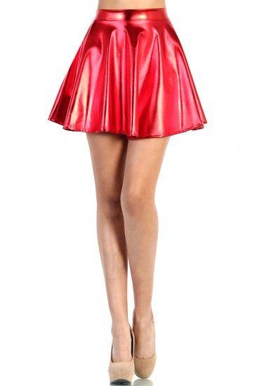 Shiny Red Skirt 1820 Mean Girls Christmas Costume