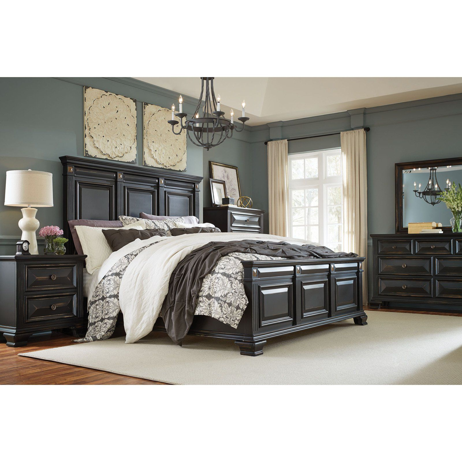 Standard Furniture Passages Panel Bed Size Queen King Bedroom