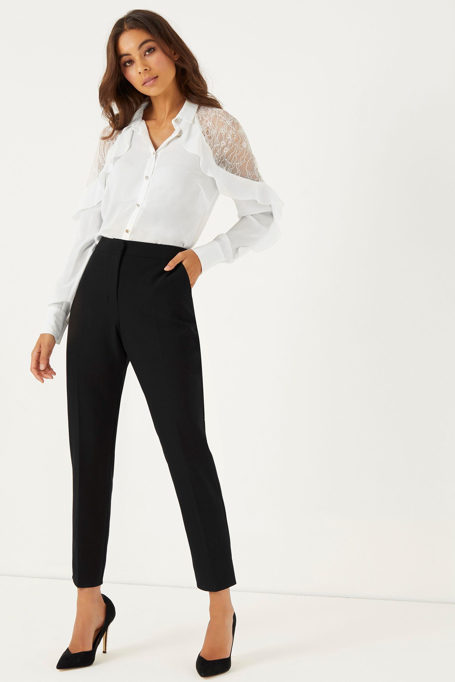 5a6e9c115ad7 Womens Lipsy Lace Shoulder Shirt - White