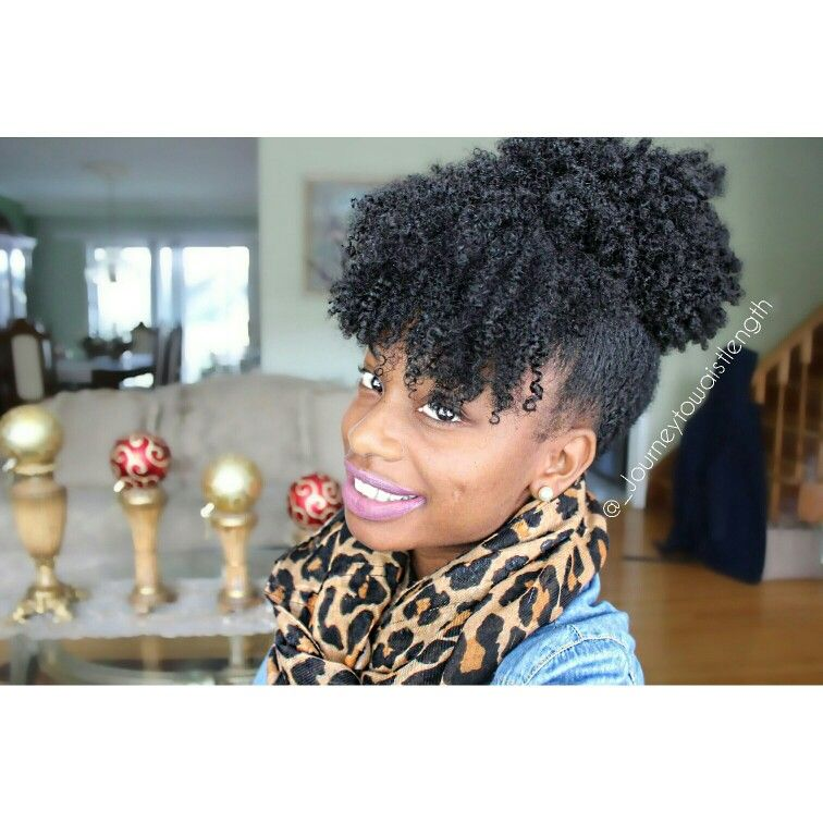 Wash And Go Puff With Bangs Naturalhair