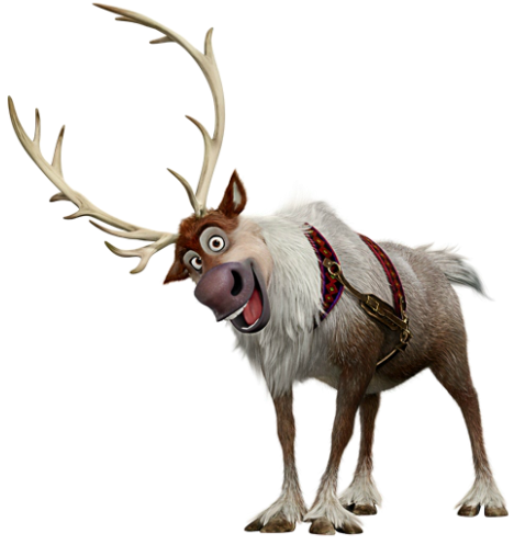 sven | film frozen, television program and feature film - Sven Reindeer Coloring Pages