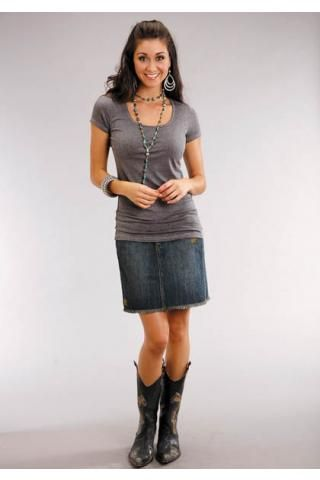 b090564e8be Women s Dresses and Skirts Blue Stretch Denim Mini Skirt With ...